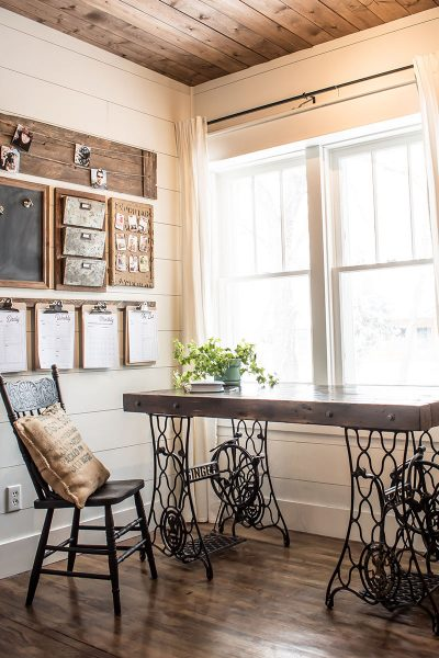 An Industrial Desk Made from Vintage Sewing Machines